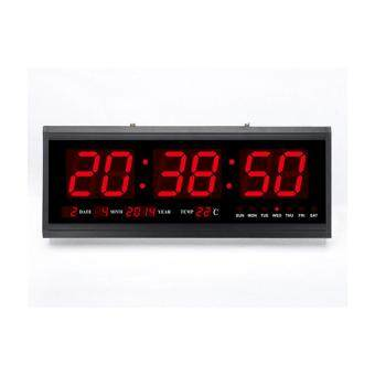 Zhuoda Modern Digital Led Wall Calendar Desk Clock Black