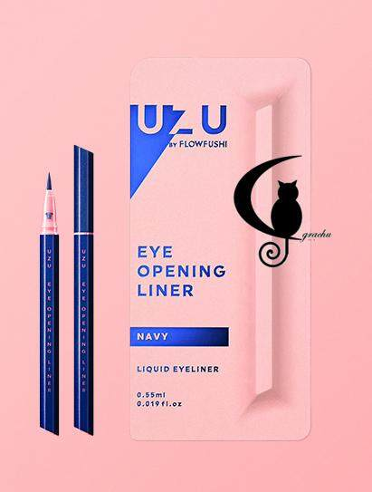[Grachu Store] UZU by Flow Fushi Mote EyeLiner - Navy Blue - Original from Japan - New Packaging (READY STOCK)