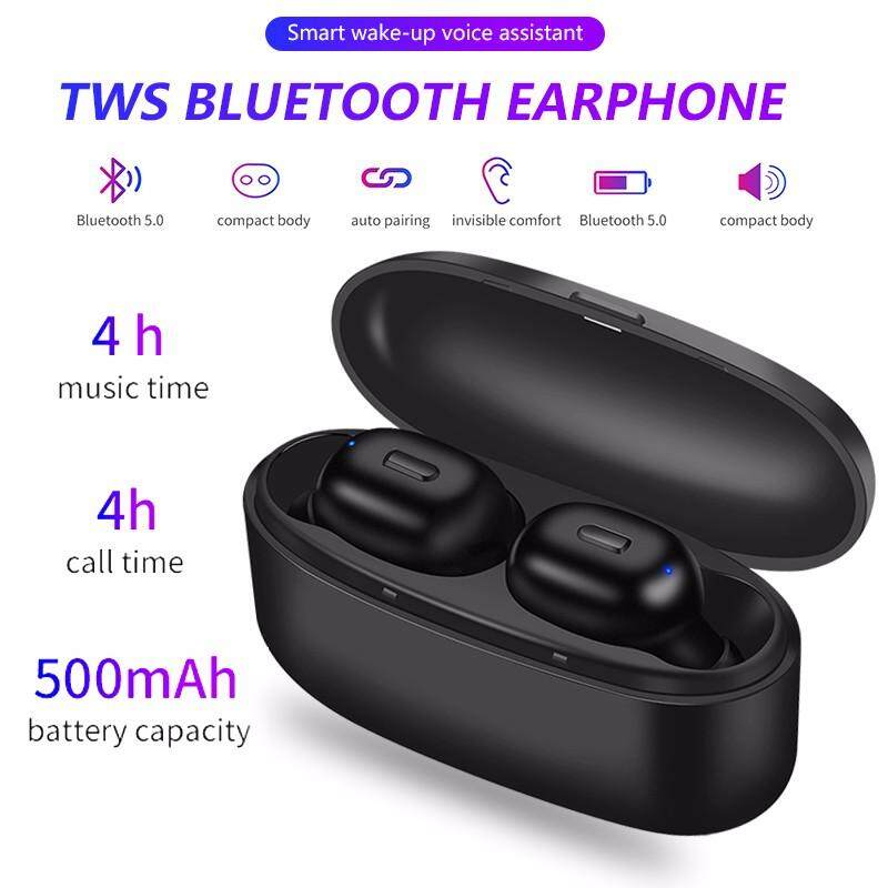 VORSTEK K3 TWS Bluetooth 5.0 HIFI หูฟังไวเลสระบบเสียงสเตอริโอหูฟังชุดหูฟังหูโทรศัพท์พร้อมกล่องชาร์จ MIC สำหรับโทรศัพท์ Xiaomi