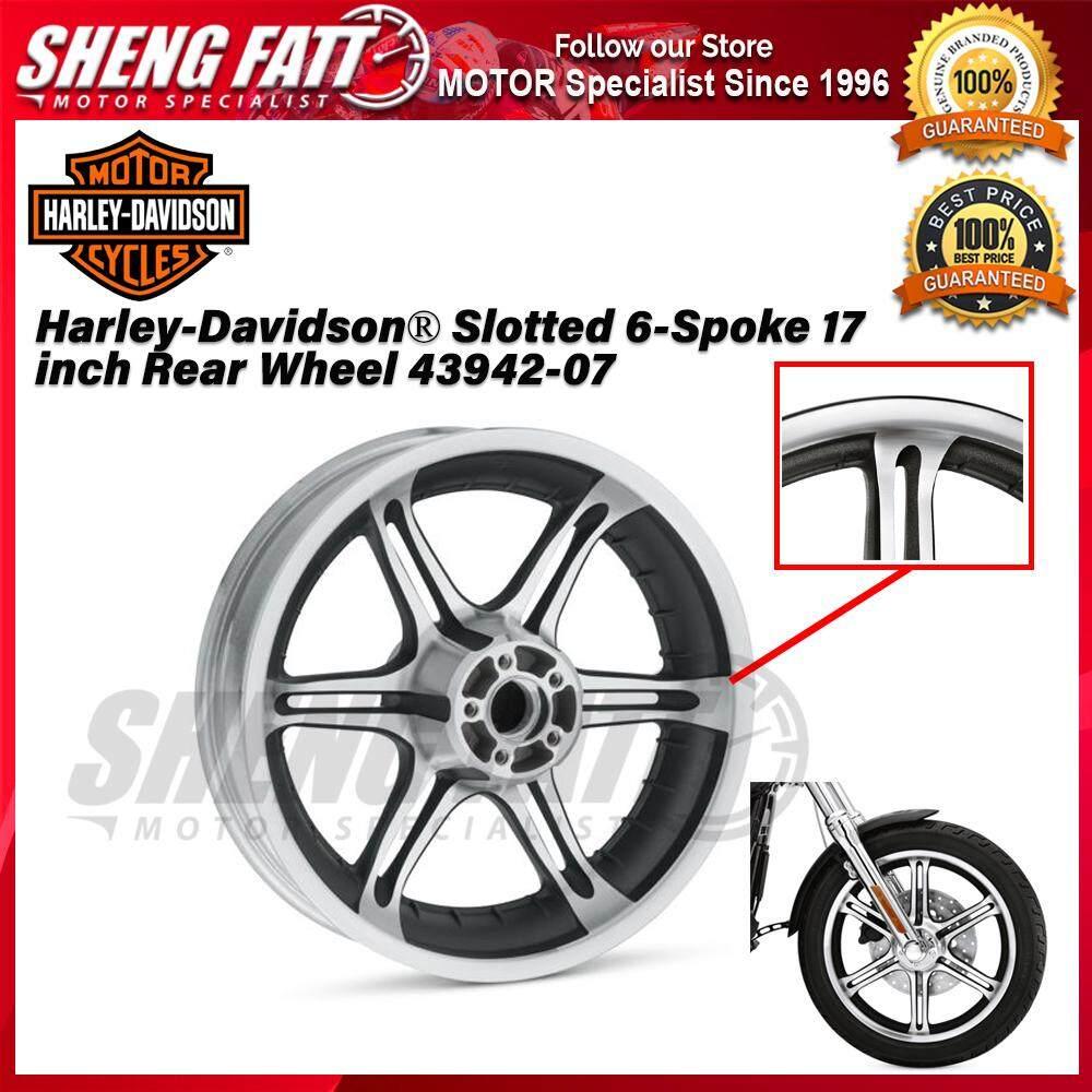 Harley-Davidson® Slotted 6-Spoke 17 inch Rear Wheel 43942-07 - [ORIGINAL]