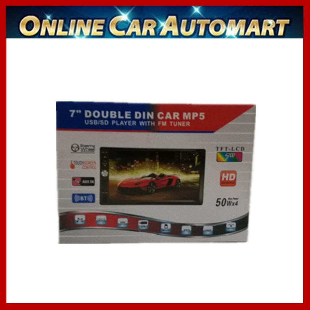 """7"""" Inch Double DIN Touchscreen In Dash Bluetooth MP5 Car Palyer Mp3 Audio 1080P Video Player FM Radio/TF/ USB/ AUX-in + Remote Control(No DVD)"""