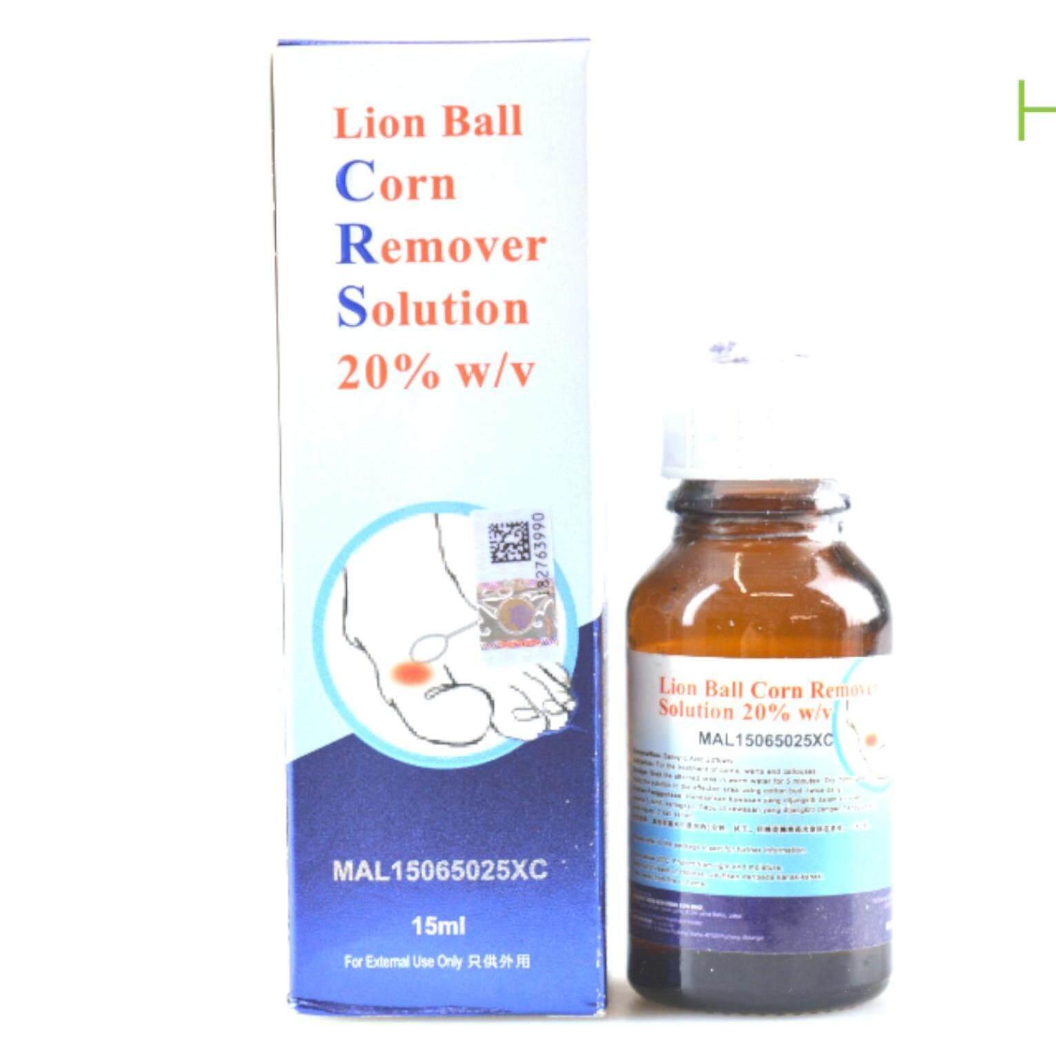 Lion Ball Corn Remover Solution 20% w/v  (Warts, Corns & Calluses) 15 ml