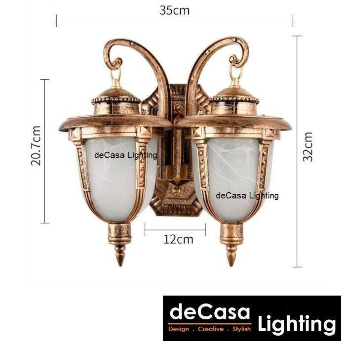 Best Seller Outdoor Lighting Double Outdoor Wall Light Decasa Lighting Wall Lamp Lampu Hiasan Dinding (OD-W5031-AB-W-2)