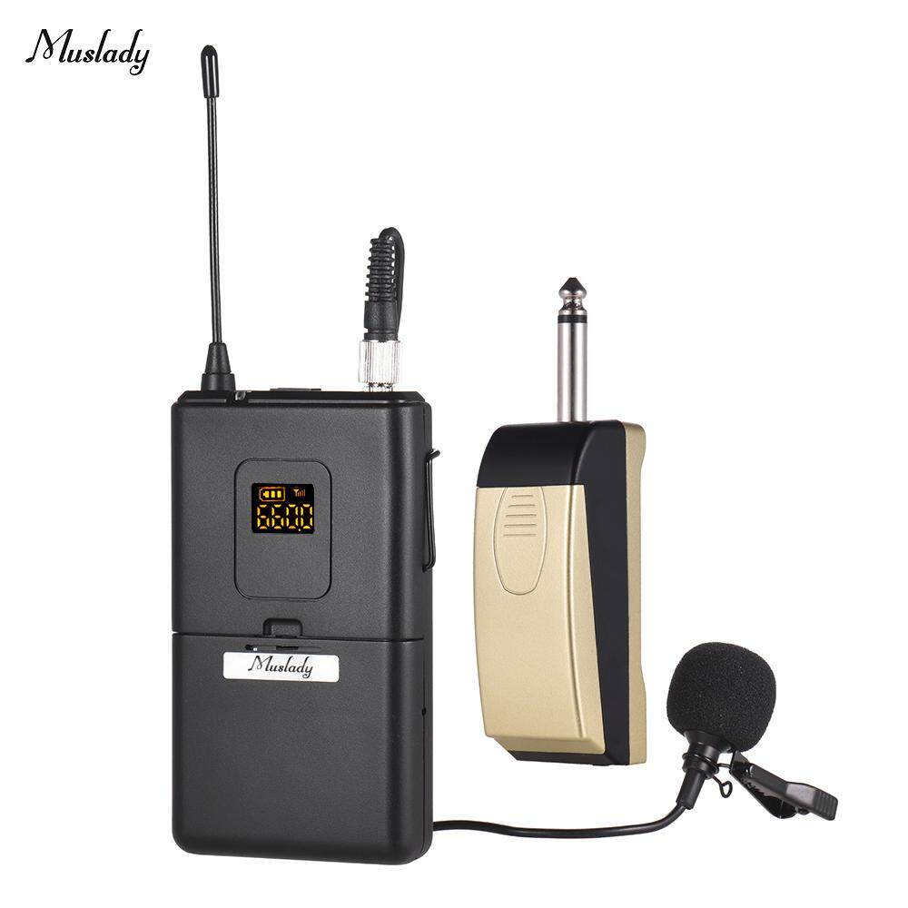 Muslady UHF Wireless Microphone Mic System with Receiver Clip-on Lapel Lavalier Microphone for Business Meeting Public Speech Classroom Teaching