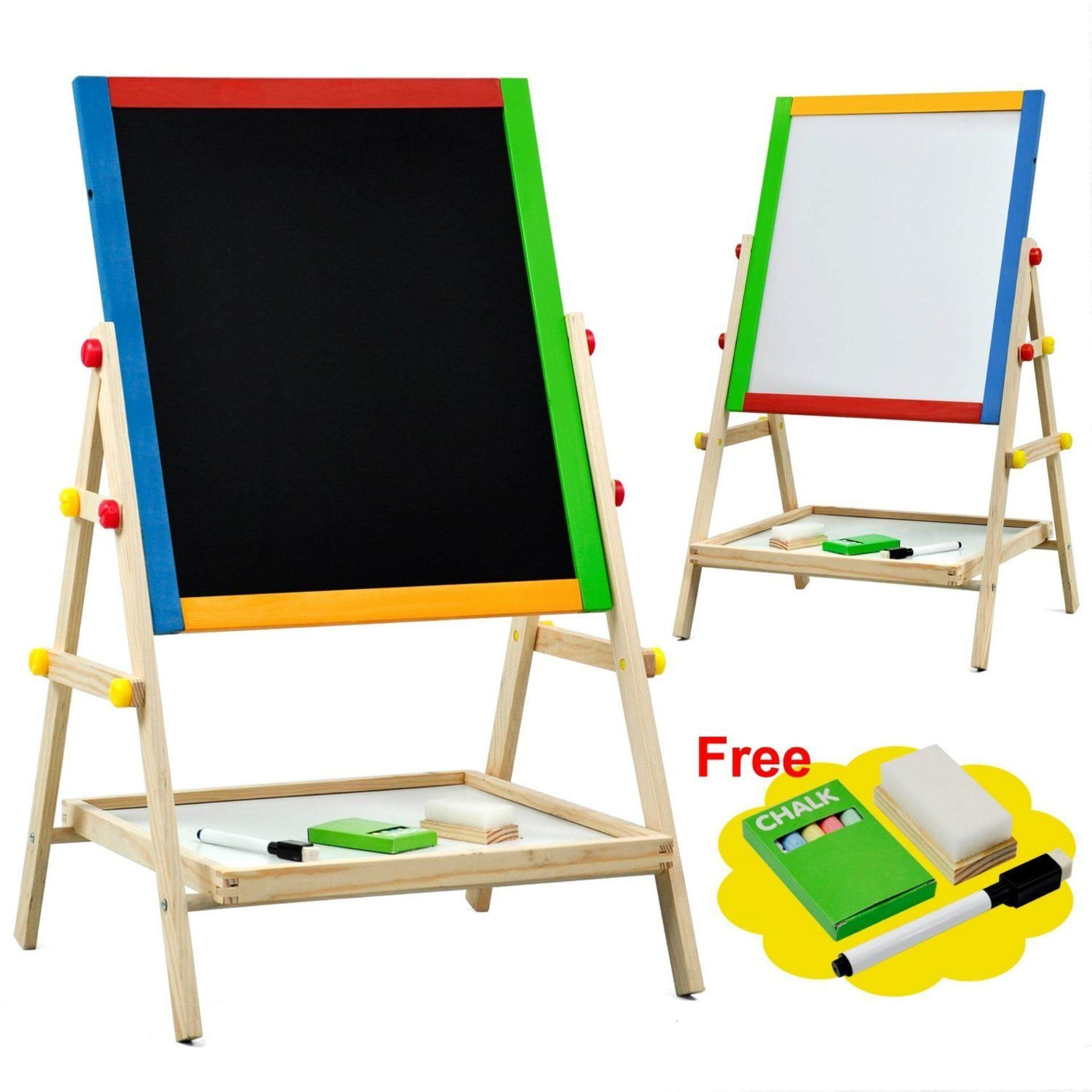 2-In-1 Easel Wooden White and Black Board Series 75 for Kid