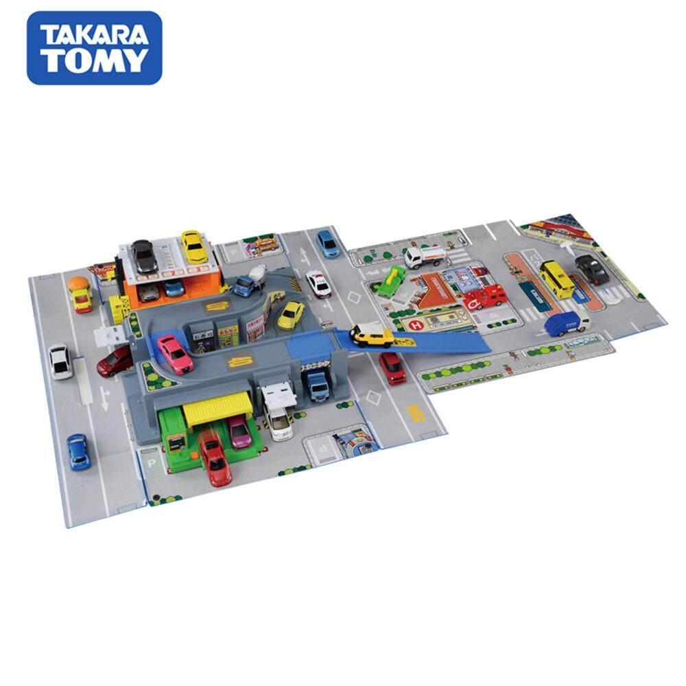 Takara Tomy dhoby card alloy car kit set three-dimensional map of the blue handbag 498384
