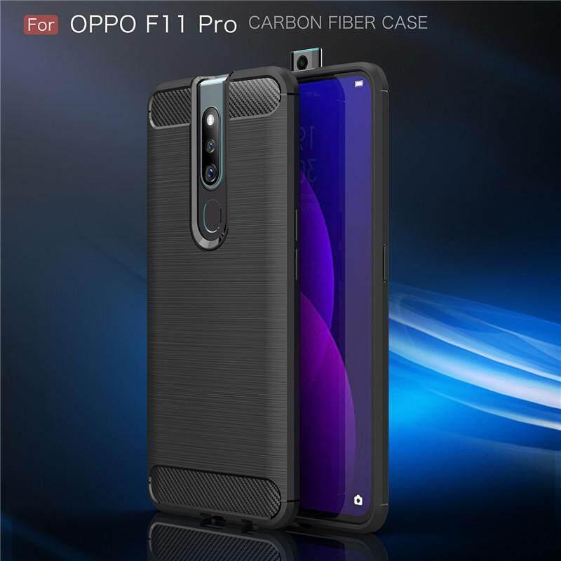 ขายดีมาก! สำหรับ OPPO F11 Pro ป้องกันเคสเกราะหนามคาร์บอนไฟเบอร์ TPU เคสหลังสำหรับ OPPO F11 Pro 6.53 นิ้ว