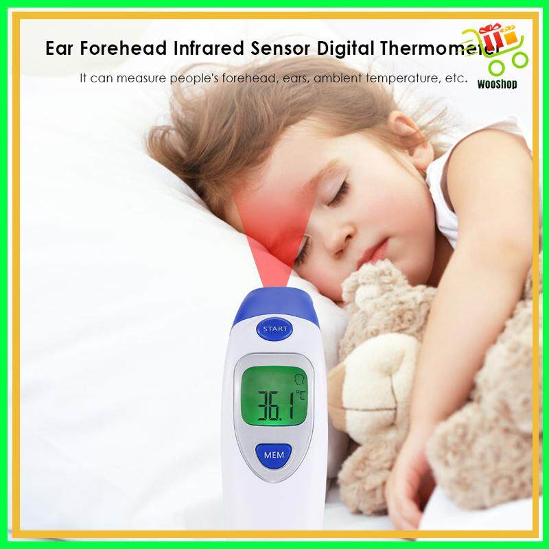 Thermometer Digital Infrared LCD Baby Forehead and Ear Termometr Infrared Body Care Fever Measurement
