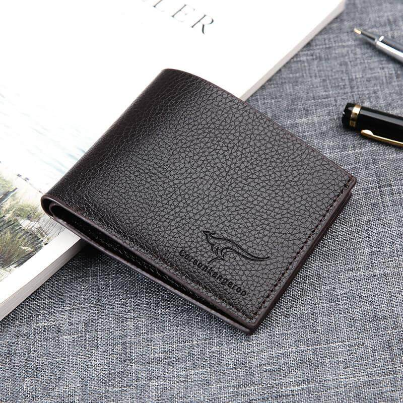 [READY STOCK] 2019 Korean Series Men\'s Wallet Bi-Fold Fengshui Wallet Euro Italy Designer Best Father\'s Day Gift Clutch Card Coins Cash Slot With Zip Portable Hand Carry Bag Luxury Top Material Genuine Leather Halal Dompet Kulit