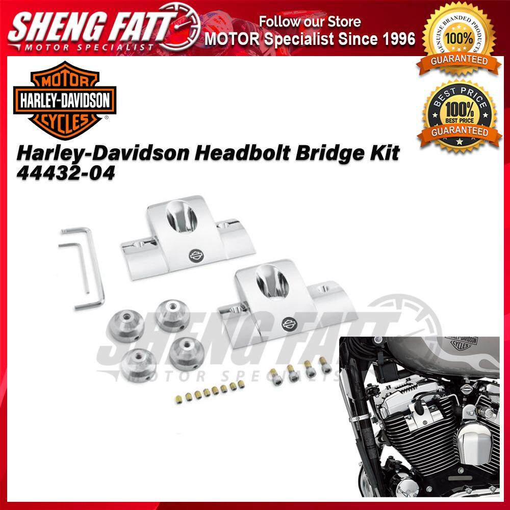 Harley-Davidson® Chrome Head bolt Bridge Kit Cover 44432-04 - [ORIGINAL]