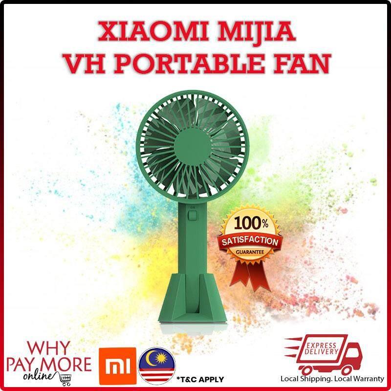 [READY STOCK] Xiaomi Mijia VH Fan Portable Handhold Fan With Rechargeable Built-In 2000mah Battery USB Port Design Handy Mini Fan For Smart Home