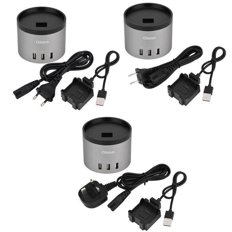 Chargers - Oittm 4USB Port Desktop Charging Station Nightstand Charger Dock Fitbit Blaze - [EU PLUG / UK PLUG]
