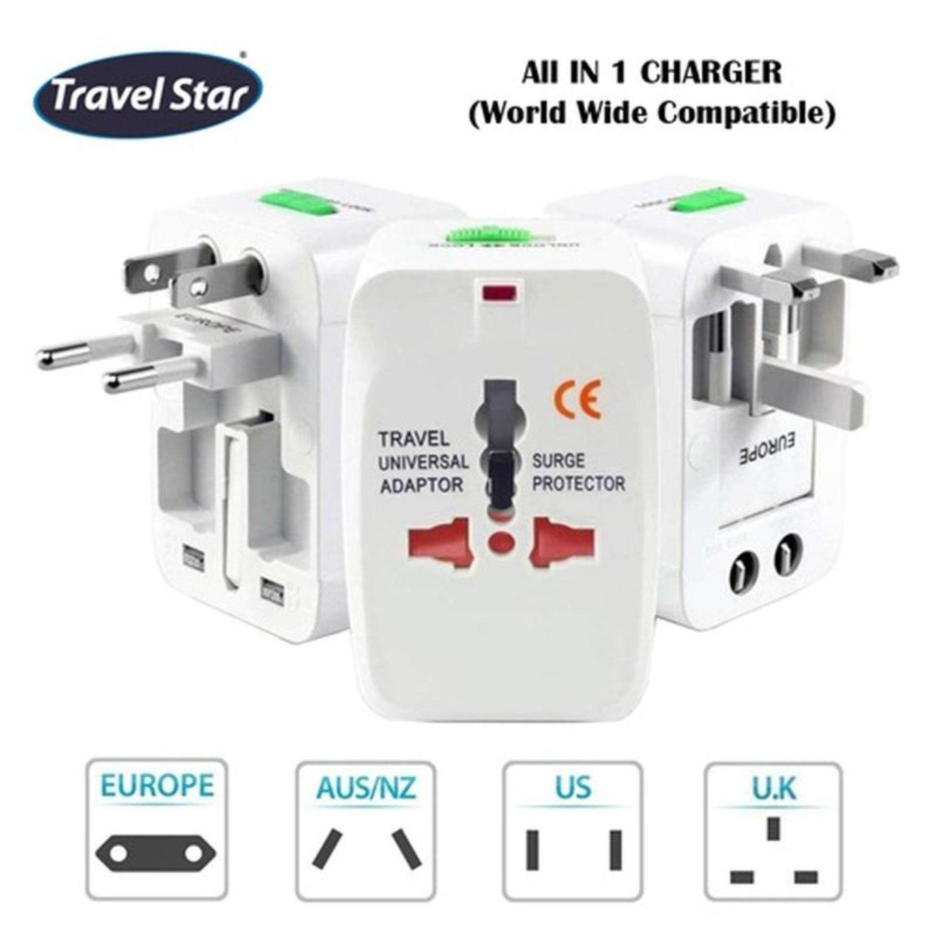 Travel Star International Travel Adapter Travel Adaptor ITA01 Home Plug Universal UK AUS US CN All in One Charger (World Wide Compatible)