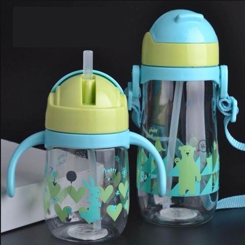 2Pcs 230/450 Ml Sippy Cup Chống Rò Rỉ An Toàn Ống Hút Bình Kids Cho Bé Sơ Sinh Đào Tạo Uống Chai ly Nước Ép Sữa Trường