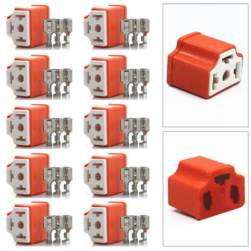 H4 3 Pin Dodge Ford 9003 Ceramic Connector Socket Lamp Car HID 3 Terminals