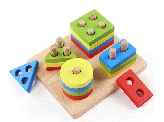 [All4kids] Wooden Geometric Shape Sorter