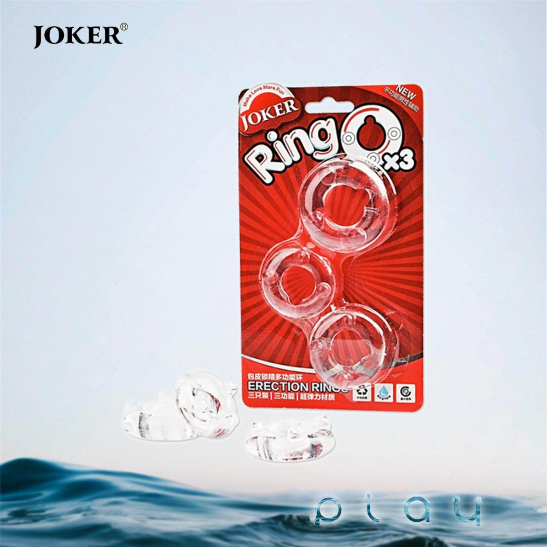 (KL Ready Stock) Joker Ring O Men 3x Soft Silicone Penis Delay Ring Cockring