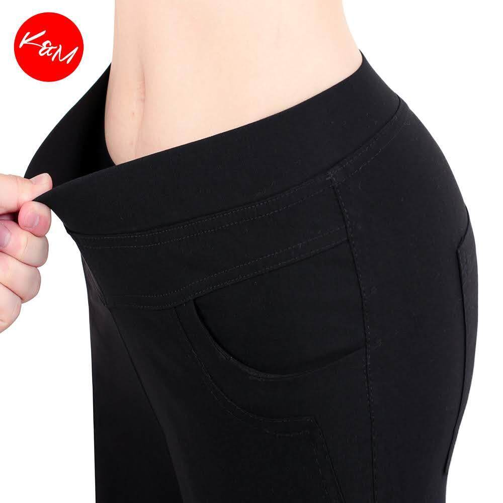 KM Upgraded Plus Size Women Elastic Pants [M17114]