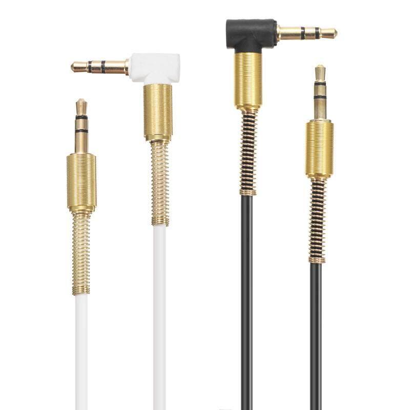 ... Bakeey 3.5 Mm Jack Male To Male 90 Derajat Sudut Kanan Bulat Alat Bantu Audio Kabel