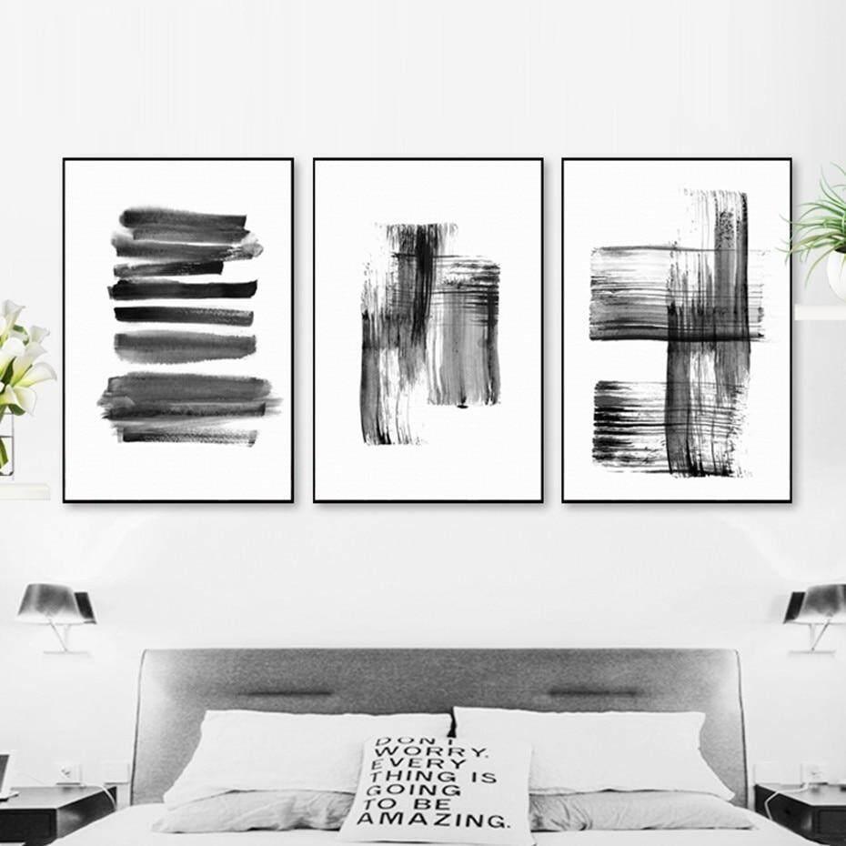 Yakin Hidup Abstract Graffiti In Hitam Dan Putih Cetak Kanvas Lukisan Poster Gambar Seni Dinding Untuk Ruang Tamu Dekorasi Rumah