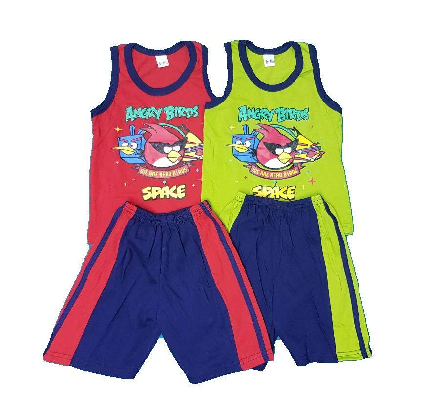 Angry Bird Singlet Summer Wear 1 Pasang