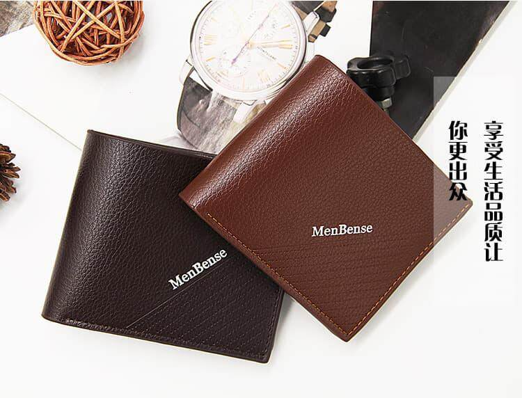 [M'sia Warehouse Direct] 2019 Korean Series Men's Leather Wallet Bi-Fold Fengshui Wallet Euro Italy Designer Best Gift Clutch Card Coins Cash Slot With Zip Portable Hand Carry Bag Luxury Top Material Genuine Leather Halal Dompet Kulit