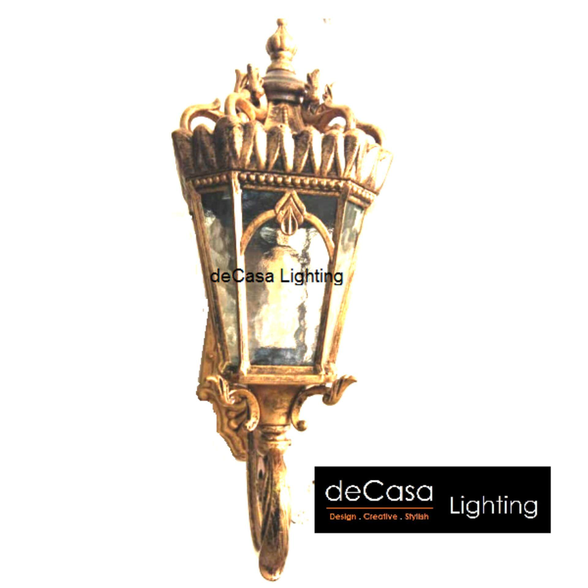 Decasa Antique Brass Outdoor Wall Light Gold Colour Wall Light Classic Wall Light (DJ-146-S-W)