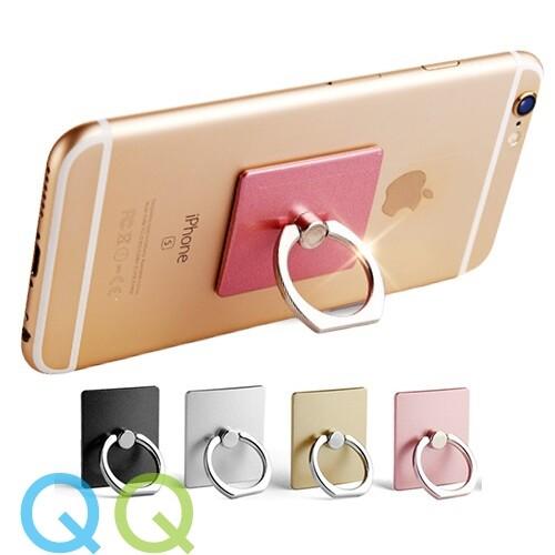 READY STOCK QQ Korea Style 360 Universal iRing Hook Phone Holder Metal Ring Stand Rotating Finger Ring Smart Grip