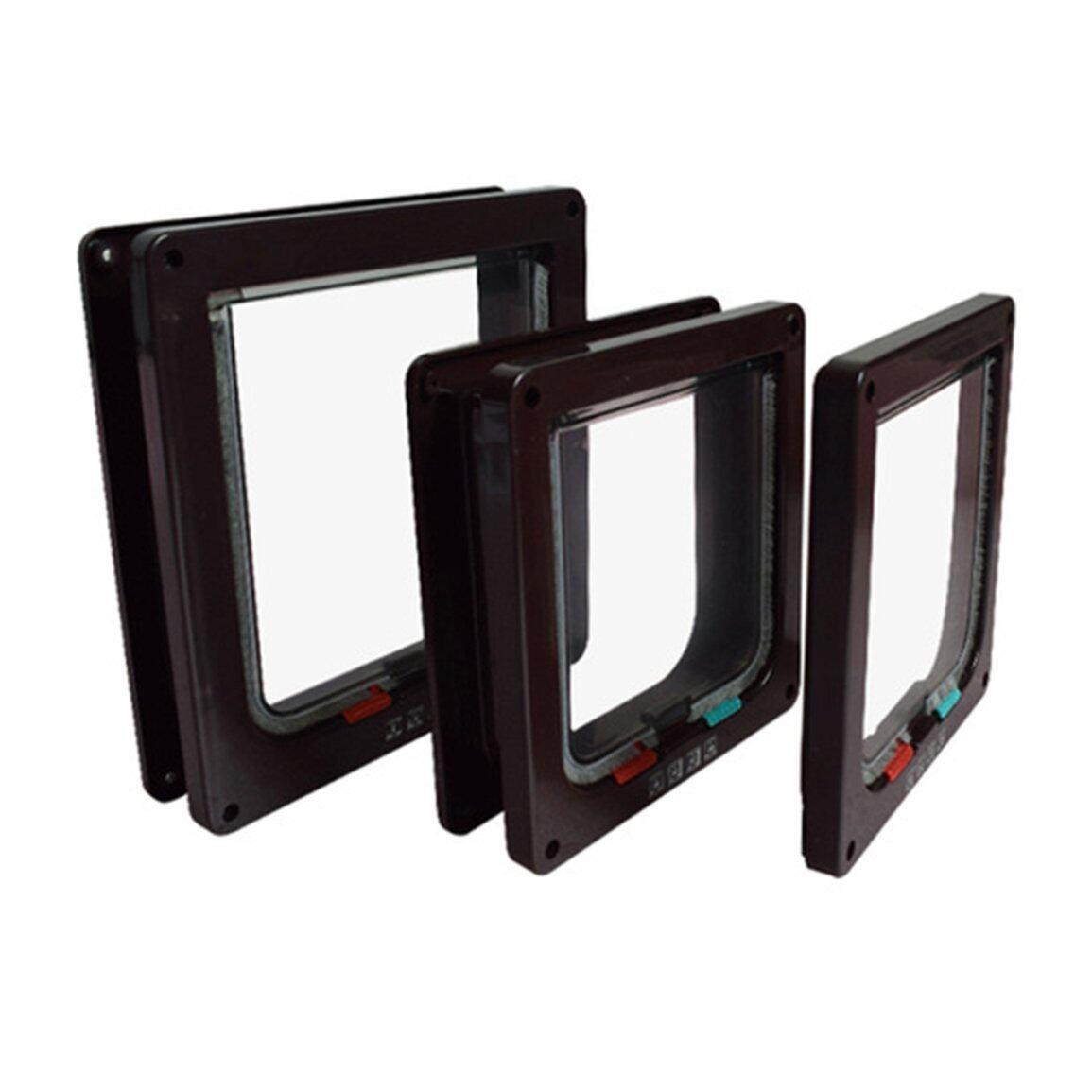 Jual Penjualan Terbaik Dikunci Tempat Tidur Hewan Pintu Keamanan Flap Pintu ABS Pintu Plastik Persediaan Hewan Peliharaan Terbaru