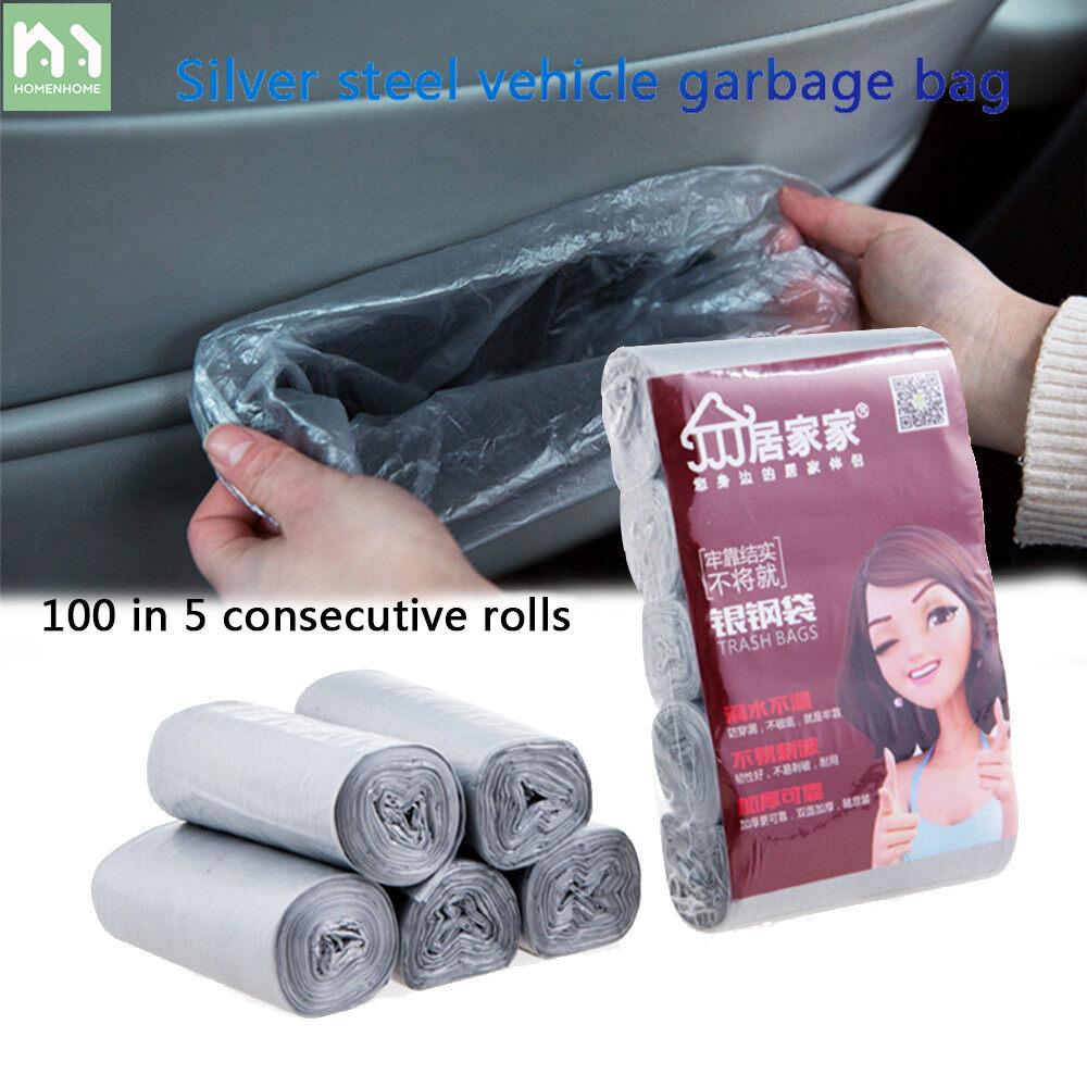 Hình ảnh Homenhome Nhỏ Để Bàn Túi Đựng Rác Tiện Lợi Xe Thùng Rác Mini Túi Nhựa 5 Cuộn