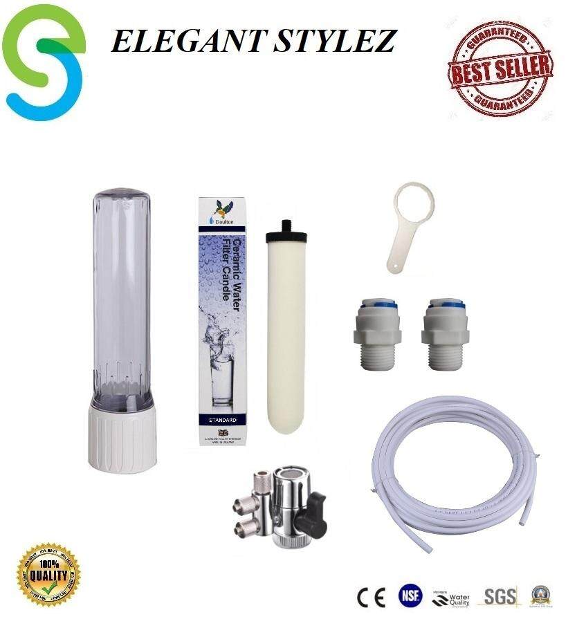 "ELEGANT STYLEZ INDOOR TABLE TOP SINGLE WATER FILTER CTC COUNTER TOP SNGLE FILTER CTC CASING WITH DOULTON STANDARD CERAMIC 10"" CANDLE FILTER"