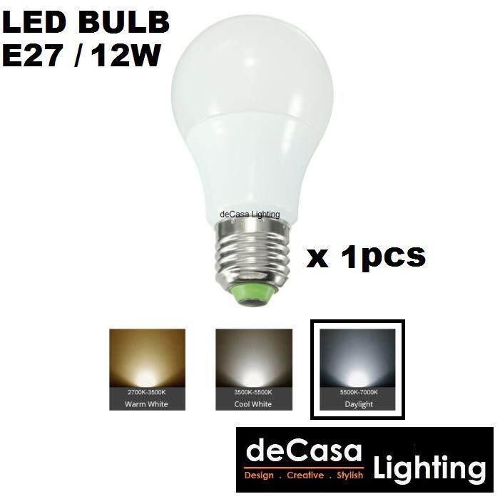 1pcs 12W Led Lamp Bulb E27 Lamp Holder DECASA Globe Bulb Daylight (DCS-MGB-E27-12W-DL)