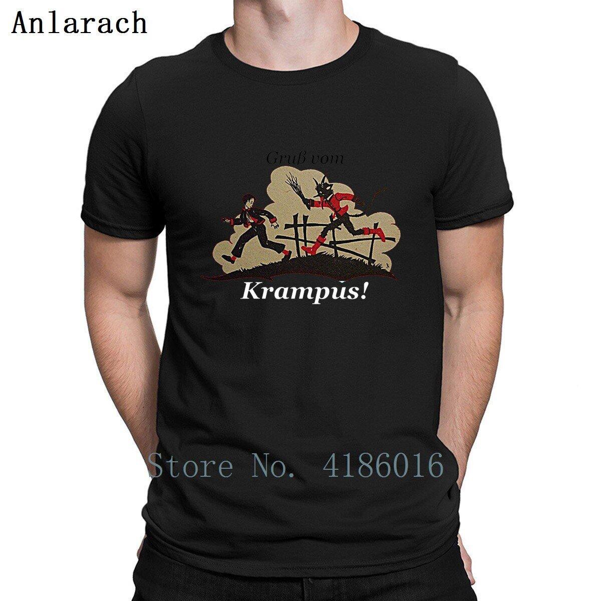 Gruss Vom Krampus T Áo sơ mi mùa xuân Thu màu rắn Kích thước S-5xl Tiêu chuẩn Cotton dễ thương Áo sơ mi nhân vật ngộ nghĩnh áo thun nữ Bông
