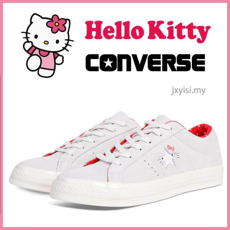ยี่ห้อนี้ดีไหม  พิจิตร Converse One Star Hello Kitty รองเท้าผ้าใบสตรีผู้หญิงสบายๆนักเรียนรองเท้าสีชมพู