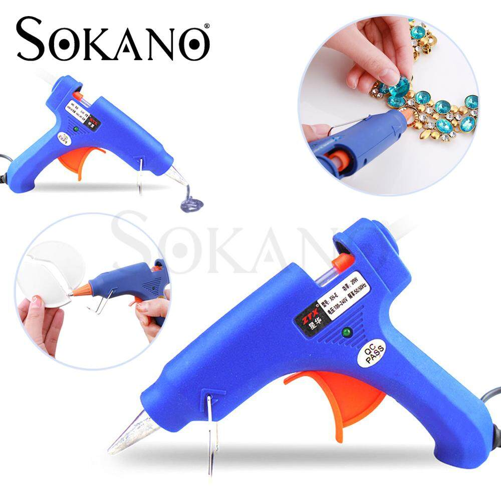 SOKANO ZTX XHE20W Electrical Mini Hot Glue Gun for DIY Small Craft Projects & Package Quick Repairs