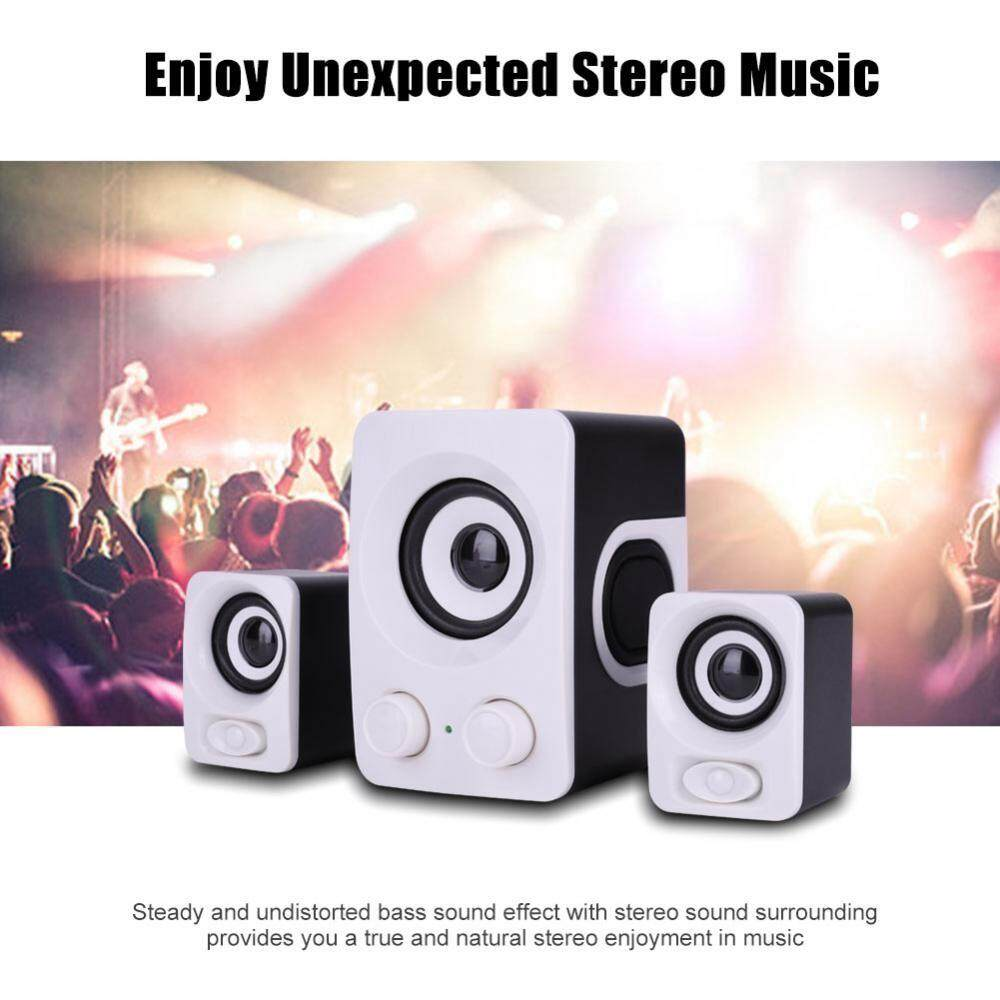 Speakers - HiFi Deep Bass Stereo USB Mini Desktop Music Speaker Audio  System for PC Laptop
