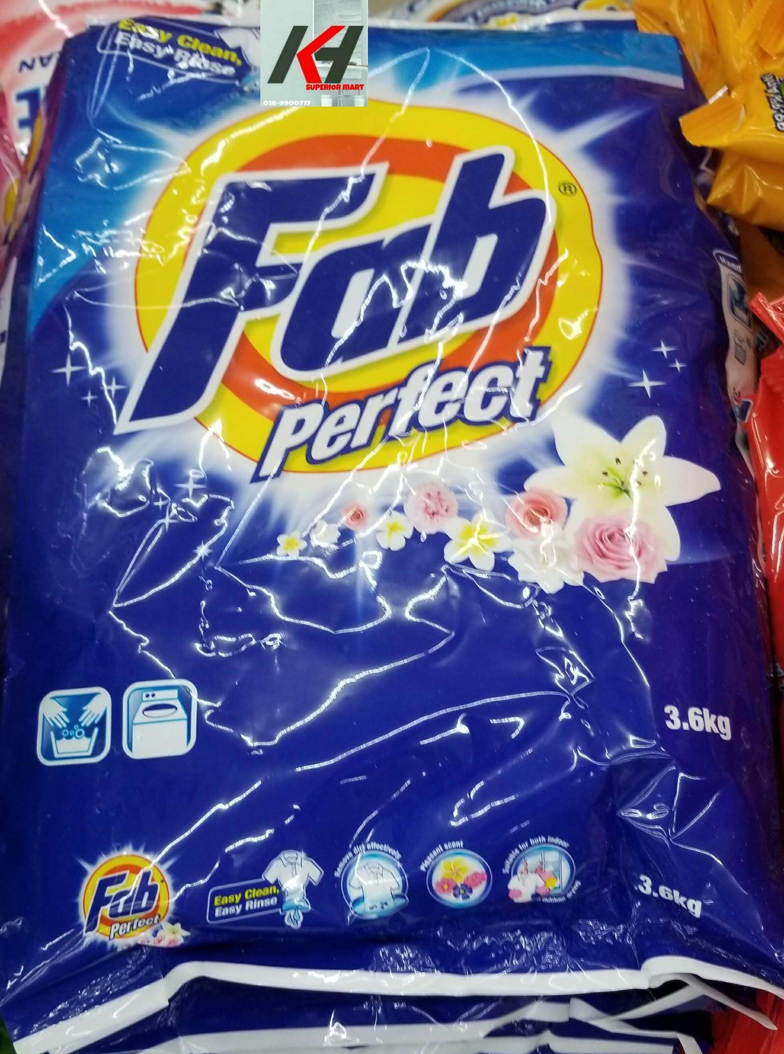 FAB PERFECT POWDER DETERGENT 3.6KG READY STOCK