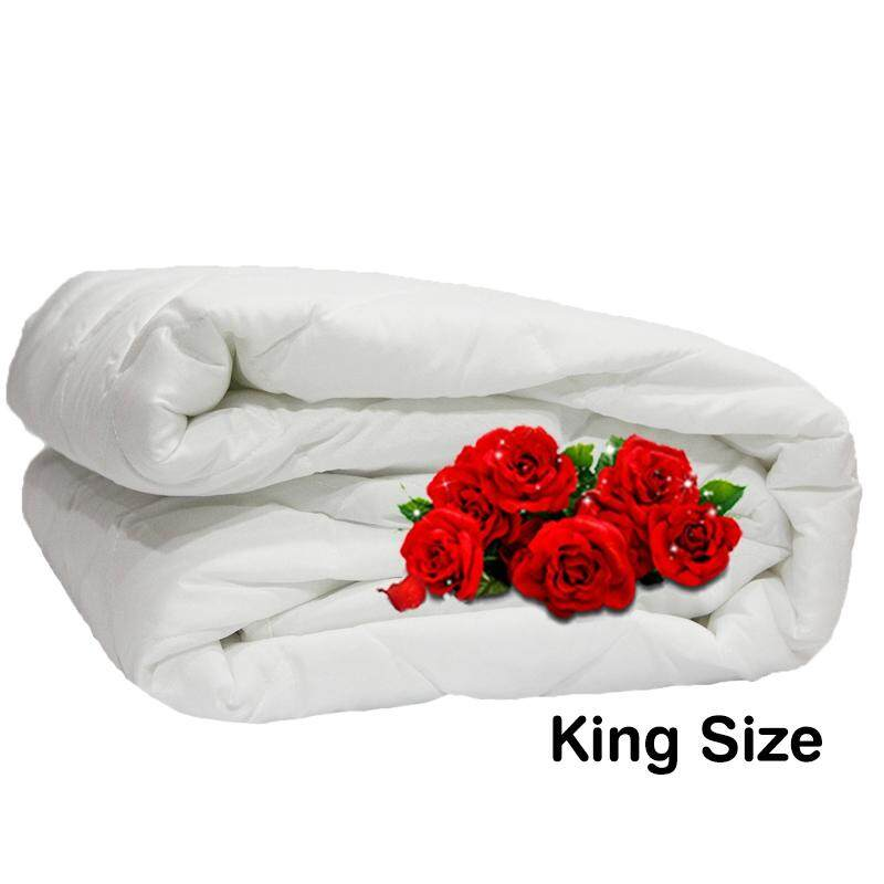 "Linen Series, Polyester Filled 125gm White Mattress Pad - King 72""x 75"""