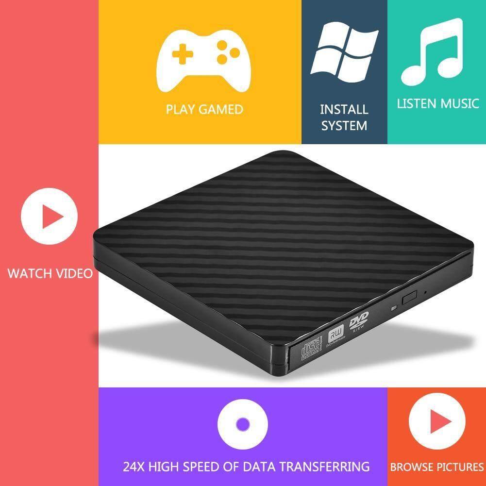 Software - PC Laptop External Enclosure High Speed USB 3.0 Optical Drive DVD CD Burner - [BLACK / WHITE]