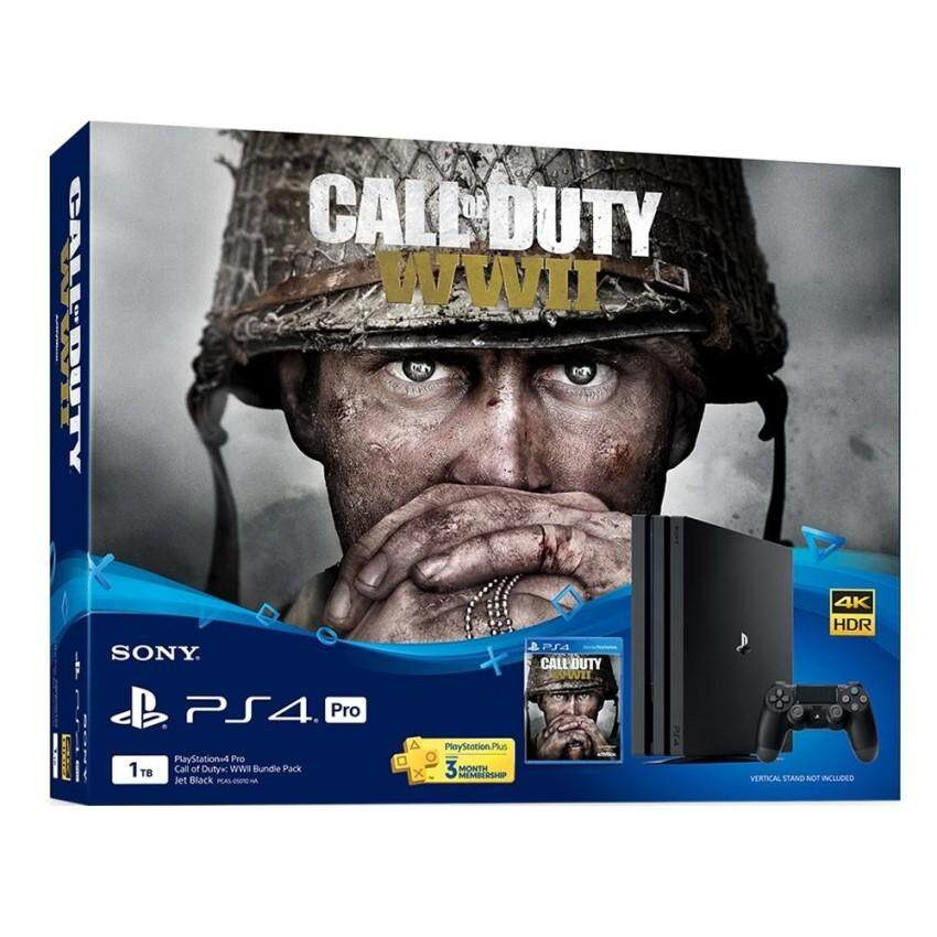 Sony PlayStation 4 PS4 Pro 1 TB Call of Duty WWII Bundle Pack (Sony Malaysia Warranty)