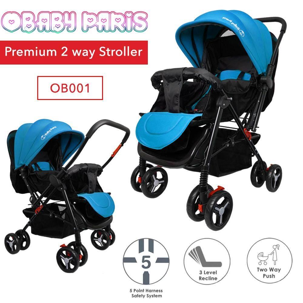 (RAYA 2019) OBaby Paris OB001 Premium 2 Way Reversible Foldable Stroller (1 Year Warranty)