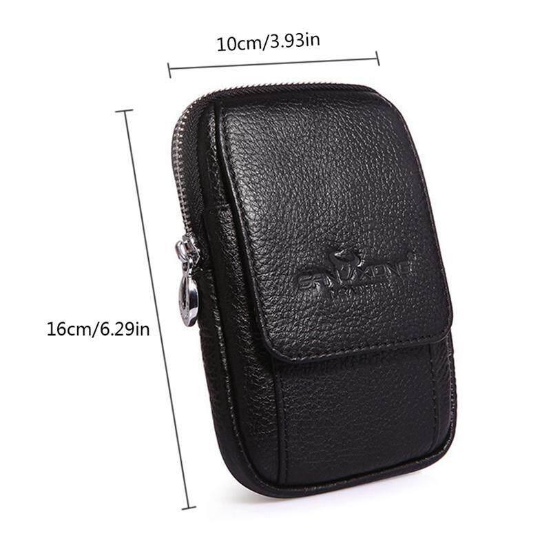 c19c13f38a20 Teepao Genuine Leather Phone Belt Holster- Vertical Phone Belt Clip Holster  Pouch Waist Bag Hip Bum Bag with Belt Loop Carabiner Clip