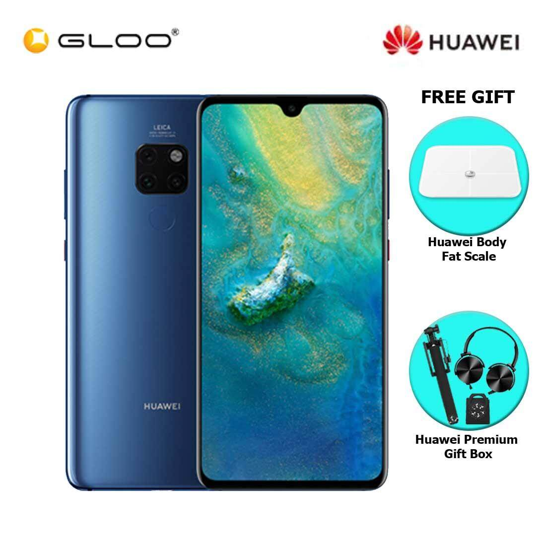 Huawei Mate 20 6GB+128GB Midnight Blue + FREE Huawei Body Fat Scale 6901443198375,Premium Gift Box (Headset/Selfie Stick/iRing)