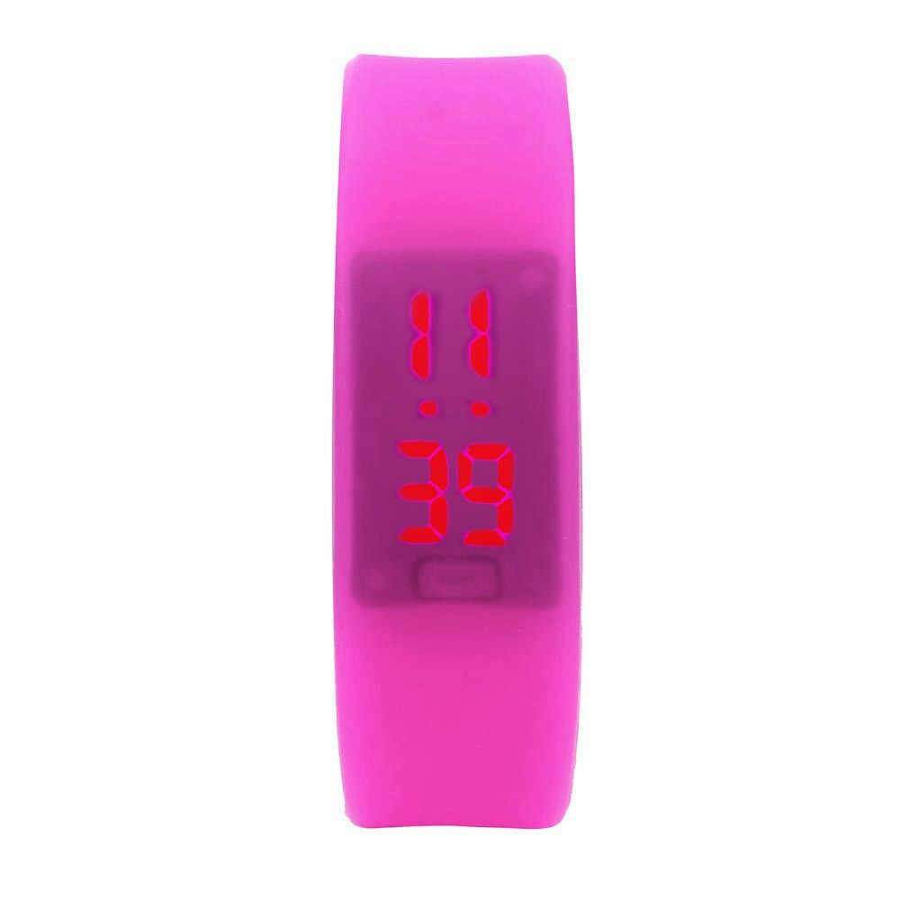 Unisex Digital LED Wrist Bracelet Watch Sports Jogging Gym Hiking Camping Fashion