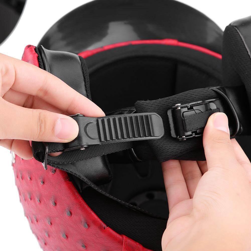 Moto Helmets - Motorcycle Helmet Universal Motorcycle Scooter PU Leather - [PLAIN BLACK M / PLAIN BLACK L / PLAIN BLACK XL / OSTRICH RED M / OSTRICH RED L / OSTRICH RED XL / OSTRICH BLACK M / OSTRICH BLACK L / OSTRICH BLACK XL / OSTRICH GREY M / OSTR