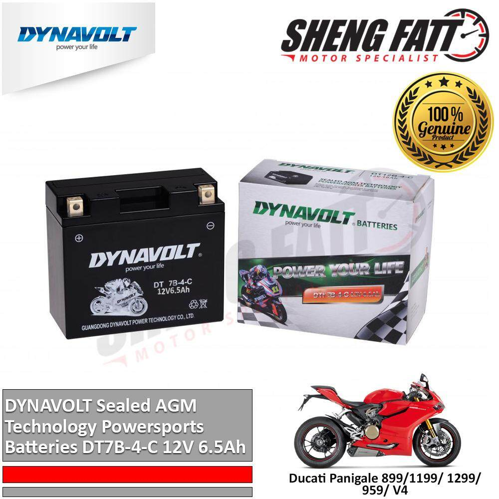 Ducati Panigale 899/1199/ 1299/ 959/ V4 DYNAVOLT Sealed AGM Technology Powersports Batteries DT7B-4-C 12V 6.5Ah