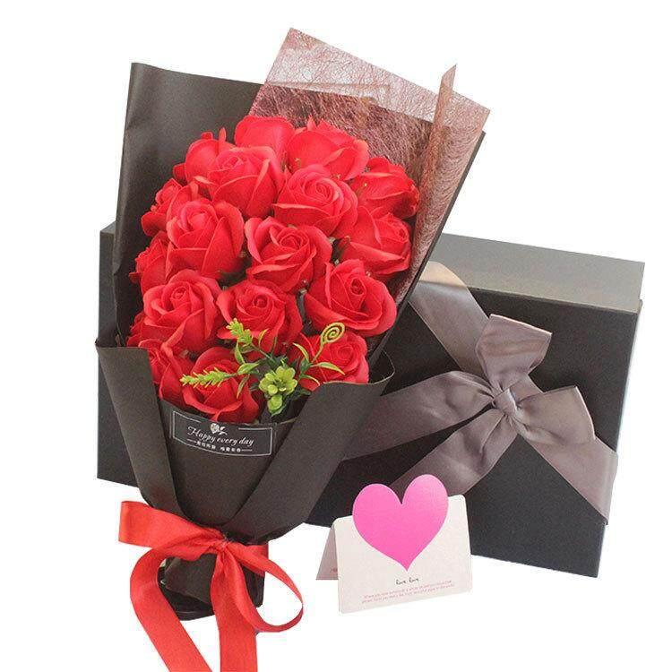 Bolster Store  sc 1 st  Youbeli & 18 pcs Rose Flower Soap Gift Rose Soap Box with Mini Doll ...