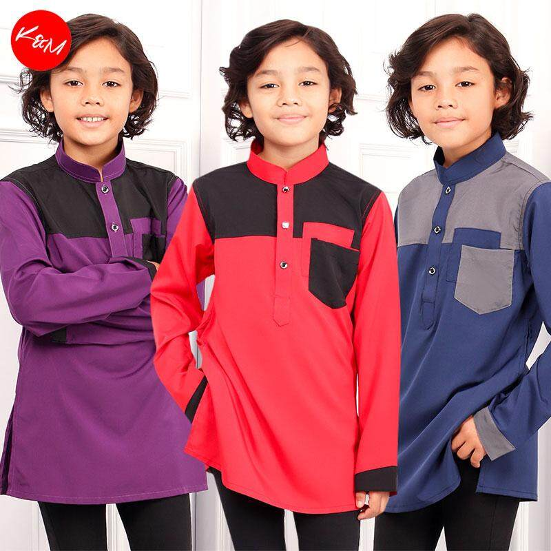 KM Hazzan Pocketed Button Kids Traditional Shirt [B19661]