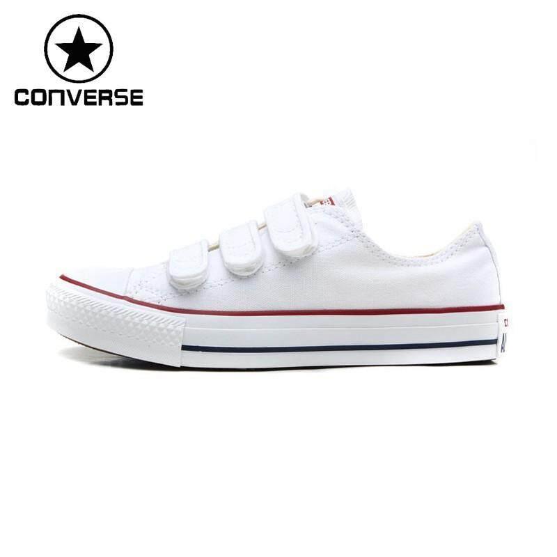 เลย Converse ออริจิน้อลตะขอและห่วงคลาสสิกรองเท้าสเก็ตบอร์ดผ้าใบชายหญิง