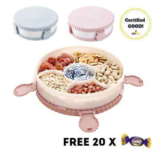 Cookie Serving Centre Tray with Cover FREE 20x Cadbury Choclairs
